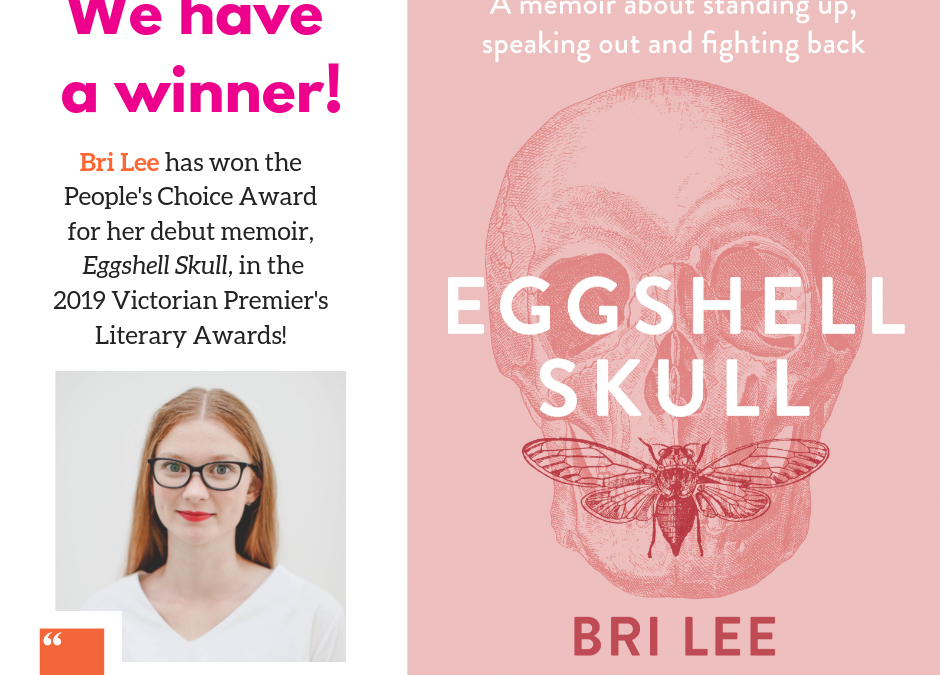 Bri Lee wins VPLA People's Choice Award for Eggshell Skull