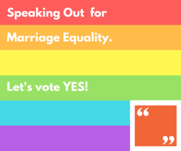 Speaking Out for Marriage Equality